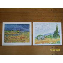 2 Láminas Importadas 24 X 30 Cm C/u Van Gogh Liquidamos