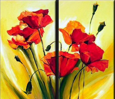 Cuadros modernos abstractos minimalistas florales imagui - Cuadros florales modernos ...