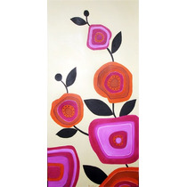Cuadro De Flores - Abstracto Diseño Unico En Stock