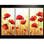 Cuadros Pinturas De Flores Amapolas, En Oferta!!