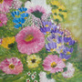 Cuadro 21x27,5cm Óleo Motivos Florales