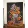 Cuadro Antiguo Tapiz Bouquet Floral (92)