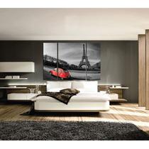 Bastidores Tripticos Torre Eiffel 120x80 En Tela Canvas