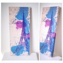 Cuadro Moderno Torre Eiffel 25x60cm
