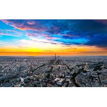 Cuadro De Torre Eiffel, Paris En Canvas Con Bastidor 95x60