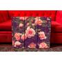 Set De Cuadros Tripticos Flores Rosas Vintage. Paisajes