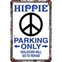 Carteles Antiguos De Chapa 60x40 Parking Only Hippie Pa-79