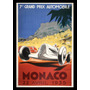 Formula 1 Monaco 1935 Cuadro Enmarcado 45 X 30cm