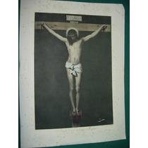 Grabado Religion Antiguo Santo Cristo Diego Velazquez Jesus