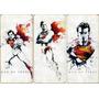 Superman Cuadro Triptico De Madera El Hombre De Acero