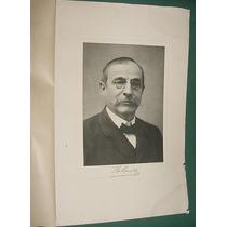 Jose Maria Ramos Mejia Grabado Antiguo Retrato Para Cuadros