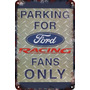 Carteles Antiguos Chapa 60x40 Parking Only Ford Racing Pa-98