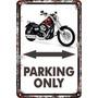 Carteles 60x40 Parking Only Harley Davidson Dyna Glide Pa-89