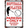 Carteles Antiguos 60x40 Parking Only Softball Player Pa-78