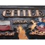 Adorno En Cobre Repujado Y Esmaltado Con Mapa De Chile
