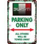 Carteles Antiguos Chapa 20x30cm Parking Only Ducati Pa-01
