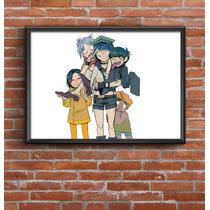 Cuadro Decorativo Gorillaz 30x42cm Lamina Póster