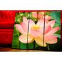 Cuadros Modernos Zen Flor De Loto. Tríptico. Decoración