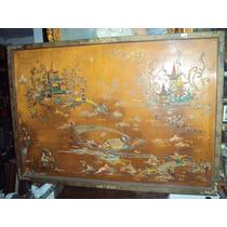 Cuadro Motivo Oriental Con Relieve Sobre Madera (649)