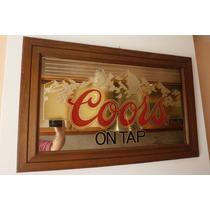 Cuadro Espejo Americano Coors On Tap 1983 Coors Company