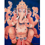 Cuadro Ganesha, Pintura Sobre Bastidor,acrílico 80 X 100 Cm.