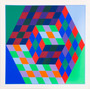 Cuadros Victor Vasarely Canvas 50x60 Bastidor Op Art Laminas