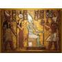 Cuadro En Relieve Tallado Seti, Horus, Isis, Osiris