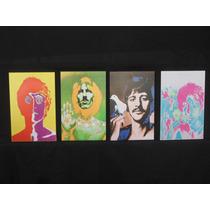 Cuatriptico Triptico The Beatles - Arte Pop - 27x42 C/u
