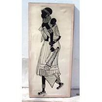 Hermosos Cuadro Mujeres Africanas En Tela Firmados -la Plata