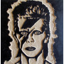 David Bowie- Ziggy Stardust, Cuadro De Madera Tallado