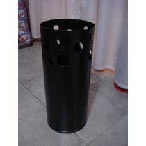 Paraguero Cilindrico, Metalico, Color Negro