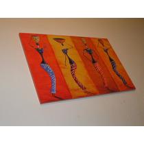 Cuadros Arte Moderno Pictorico - Negras Africanas - 27x42