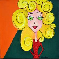 Mujer De Vestido Rojo