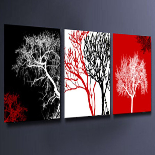 Cuadros al oleo en tripticos pintados a mano modernos for Cuadros tripticos abstractos