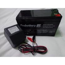 Bateria Gel 6v 10 Ah Ó 12v 7 Ah + Cargador Ideal Auto Niño