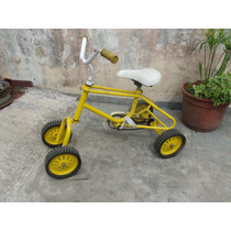 Cuatriciclo Pedal Antiguo Para Niños Manubrio Pivotante Ret