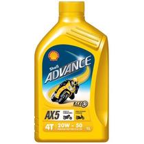 Aceite Shell Advance 4t Ax5 20w-50 X 1 Lt- Moto Fazio