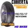 Cubierta Contirace Attack Endurance 190/55-17 Alema Mg Bikes