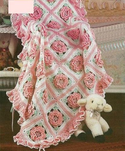 Cubrecama Y Mantas Tejidas Al Crochet - $ 1.800,00 en MercadoLibre
