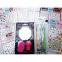 Kit Stamping +10 Stickers 5 Dotting Art Nail Decoración Uñas