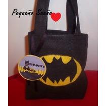 Bolsitas Cumpleaños Batman Princesa Sofia Cars Mickey Tela