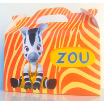 Cajita Bolsita Zou Cebrita Souvenirs Infantiles Pack X100