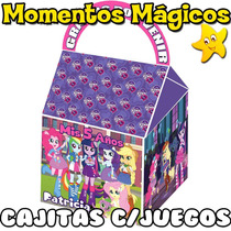 10 Cajita Souvenir Equestria Girls My Little Pony + 7 Juegos