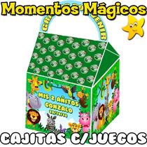 10 Cajita Souvenir Animalitos De La Selva Bolsita + 7 Juegos