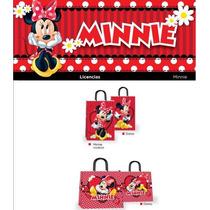 Bolsa Souvenir Cumpleaños Minnie / Mickey 14x20 (x10)