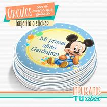 Mickey Bebé - Círculo Multiuso Para Imprimir