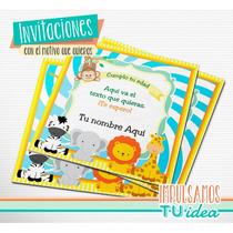 Animalitos De La Selva - Invitación Para Imprimir