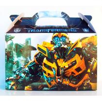 Cajita Bolsita Transformers Souvenirs Infantiles Pack X100