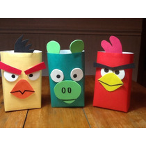 Bolsitas Angry Birds Artesanales Pack 5 Unidades
