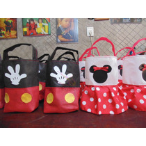 Bolsitas De Mickey Y Minnie Unicas